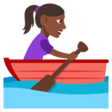 Woman Rowing Boat: Dark Skin Tone on JoyPixels 3.0