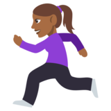 Woman Running: Medium-Dark Skin Tone on JoyPixels 3.0