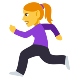 Woman Running on JoyPixels 3.0