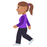 Woman Walking: Medium Skin Tone on JoyPixels 3.0