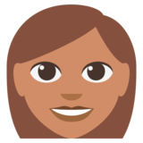 Woman: Medium Skin Tone on EmojiOne 3.0