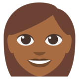 Woman: Medium-Dark Skin Tone on JoyPixels 3.0
