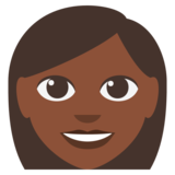 Woman: Dark Skin Tone on JoyPixels 3.0