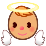 Baby Angel: Medium Skin Tone on emojidex 1.0.33