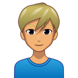 Man: Medium Skin Tone, Blond Hair on emojidex 1.0.33