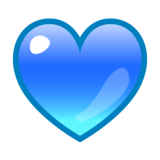 Blue Heart on emojidex 1.0.33
