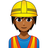 Construction Worker: Medium-Dark Skin Tone on emojidex 1.0.33