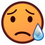 Sad but Relieved Face on emojidex 1.0.33