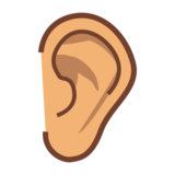 Ear: Medium Skin Tone on emojidex 1.0.33
