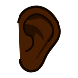 Ear: Dark Skin Tone on emojidex 1.0.33