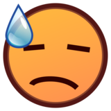 Downcast Face With Sweat on emojidex 1.0.33