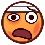 Face with Head-Bandage on emojidex 1.0.33