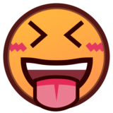 Squinting Face with Tongue on emojidex 1.0.33