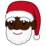 Santa Claus: Dark Skin Tone on emojidex 1.0.33