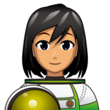 Woman Astronaut: Medium Skin Tone on emojidex 1.0.33