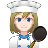 Woman Cook: Light Skin Tone on emojidex 1.0.33