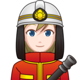 Woman Firefighter: Light Skin Tone on emojidex 1.0.33