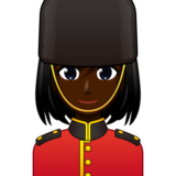 Woman Guard: Dark Skin Tone on emojidex 1.0.33