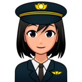 Woman Pilot: Medium-Light Skin Tone on emojidex 1.0.33