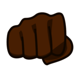 Oncoming Fist: Dark Skin Tone on emojidex 1.0.33