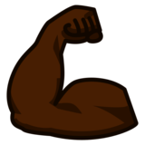 Flexed Biceps: Dark Skin Tone on emojidex 1.0.33