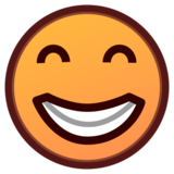 Beaming Face With Smiling Eyes on emojidex 1.0.33