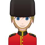 Guard: Light Skin Tone on emojidex 1.0.33