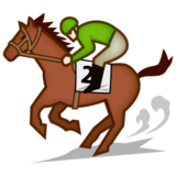 Horse Racing: Light Skin Tone on emojidex 1.0.33
