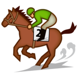 Horse Racing: Medium Skin Tone on emojidex 1.0.33