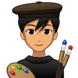 Man Artist: Medium Skin Tone on emojidex 1.0.33