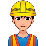 Man Construction Worker: Medium-Light Skin Tone on emojidex 1.0.33