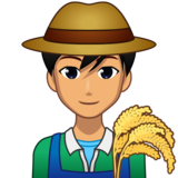 Man Farmer: Medium Skin Tone on emojidex 1.0.33