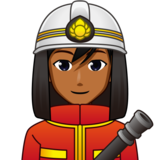 Man Firefighter: Medium-Dark Skin Tone on emojidex 1.0.33
