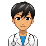 Man Health Worker: Medium Skin Tone on emojidex 1.0.33