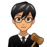 Man Judge: Medium Skin Tone on emojidex 1.0.33
