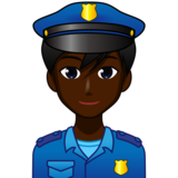 Man Police Officer: Dark Skin Tone on emojidex 1.0.33