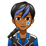 Man Singer: Medium-Dark Skin Tone on emojidex 1.0.33