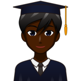 Man Student: Dark Skin Tone on emojidex 1.0.33