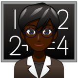 Man Teacher: Dark Skin Tone on emojidex 1.0.33