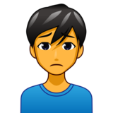 Man Frowning on emojidex 1.0.33