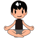 Man in Lotus Position: Medium-Light Skin Tone on emojidex 1.0.33
