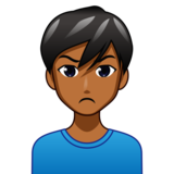 Man Pouting: Medium-Dark Skin Tone on emojidex 1.0.33