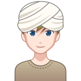 Man Wearing Turban: Light Skin Tone on emojidex 1.0.33