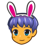 Men with Bunny Ears on emojidex 1.0.33