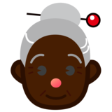 Old Woman: Dark Skin Tone on emojidex 1.0.33