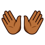 Open Hands: Medium-Dark Skin Tone on emojidex 1.0.33