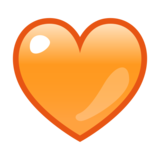 Orange Heart on emojidex 1.0.33