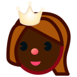 Princess: Dark Skin Tone on emojidex 1.0.33