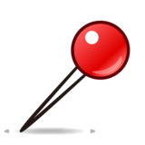Round Pushpin on emojidex 1.0.33