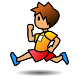 Person Running: Medium Skin Tone on emojidex 1.0.33